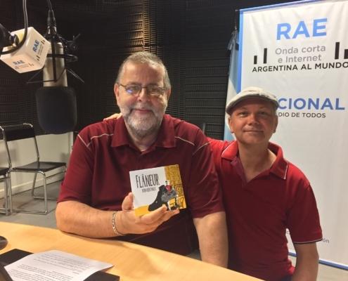 Junto a Gustavo Ríos en Radio Nacional