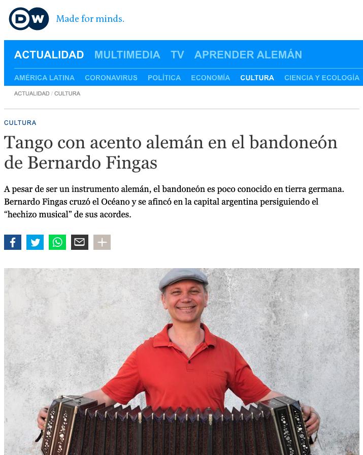 Bernardo Fingas en DW